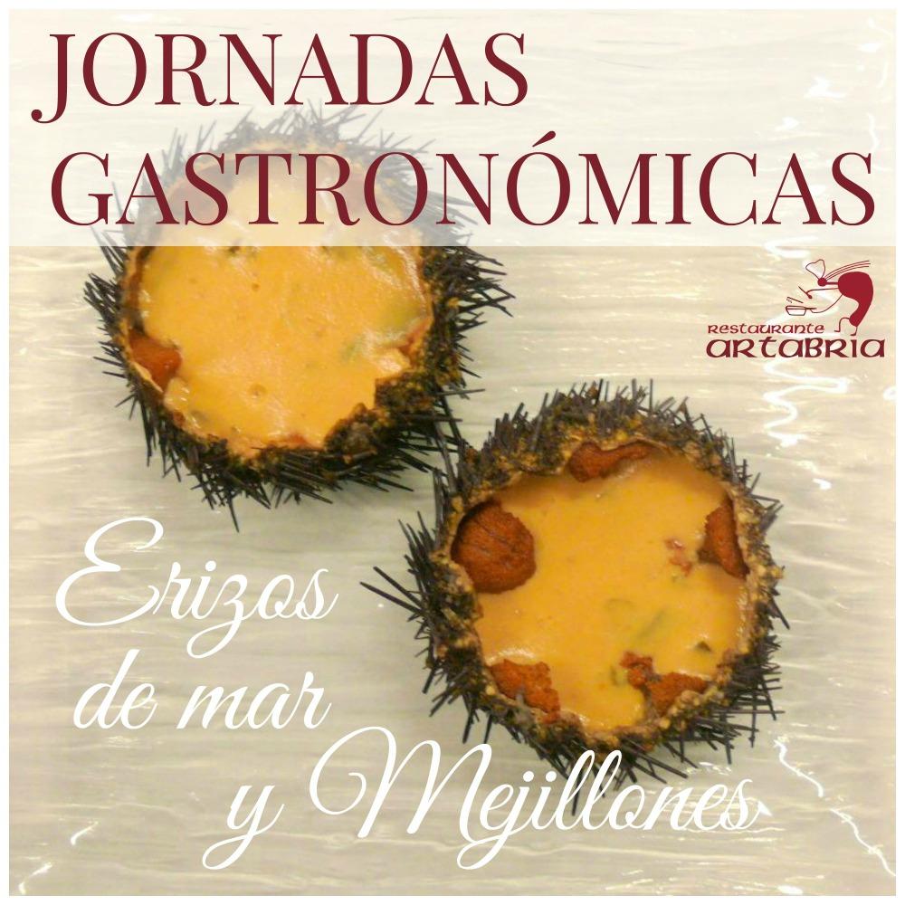 Jornadas Gastronómicas Restaurante Artabria - Erizos de mar y Mejillones