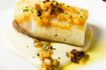 Bacalao a la plancha con pisto de frutos secos - Jornadas de Bacalao